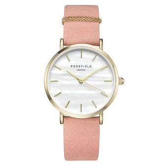 Rosefield Ladies' Pink Leather Strap Watch - Product number 9436359