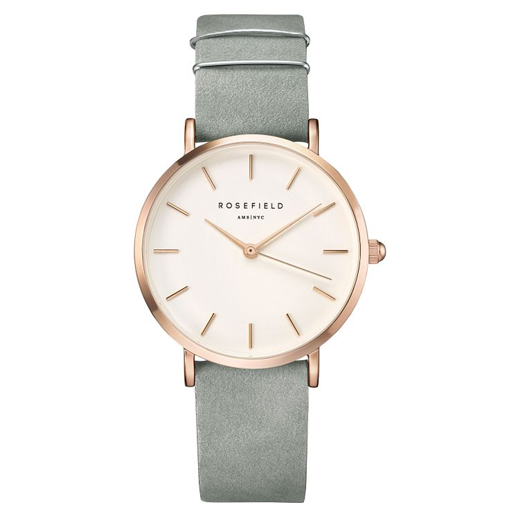 Rosefield Ladies' Grey Leather Strap Watch - Product number 9436456