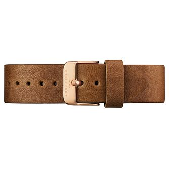 Rosefield Tribeca Ladies' Brown Leather Watch Strap - Product number 9436537