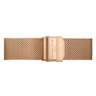 Rosefield Tribeca Ladies' Rose Gold Plated Mesh Watch Strap - Product number 9436545