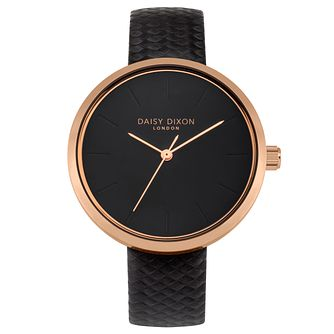 Daisy Dixon Mischa Ladies' Black Strap Watch - Product number 9436707