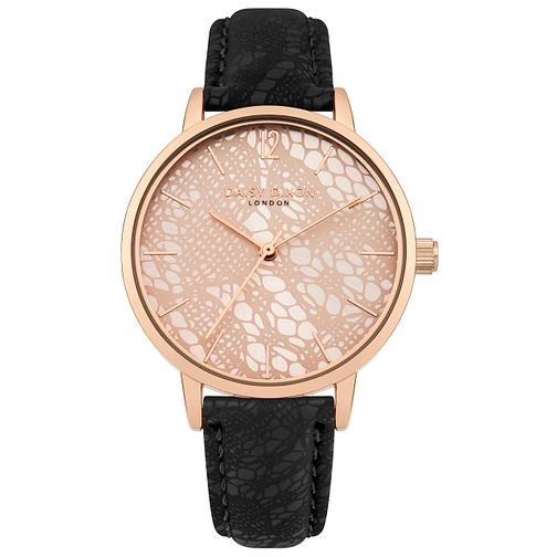 Daisy Dixon Mae Ladies' Black Strap Watch - Product number 9436758
