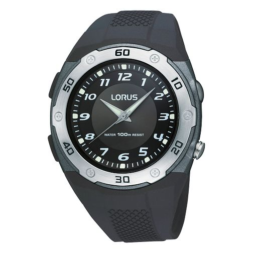Lorus Sports Men's Black Rubber Strap Watch - Product number 9437711