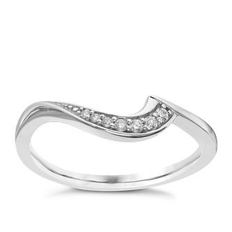9ct White Gold & Diamond Perfect Fit Wedding Ring - Product number 9440046