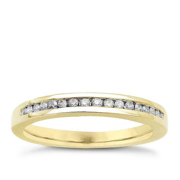 18ct Yellow Gold & Diamond Perfect Fit Eternity Ring - Product number 9443398