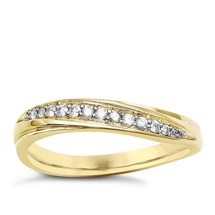 9ct Yellow Gold & Diamond Perfect Fit Eternity Ring - Product number 9443657