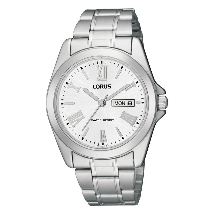 Lorus Men's Silver Date Dial Bracelet Watch - Product number 9443940