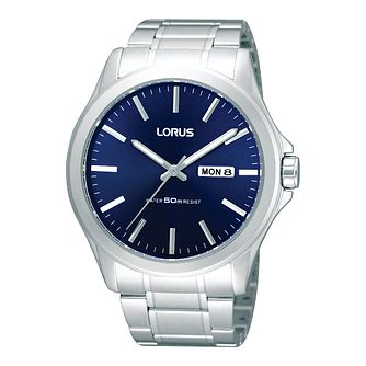 Lorus Men's Blue Date Dial Bracelet Watch - Product number 9444211