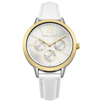 Daisy Dixon Heidi Ladies' White Leather Strap Watch - Product number 9444467