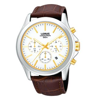 Lorus Men's Brown Mock Croc Leather watch - Product number 9445765