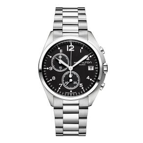 Hamilton men's black dial stainless steel bracelet watch - Product number 9446508