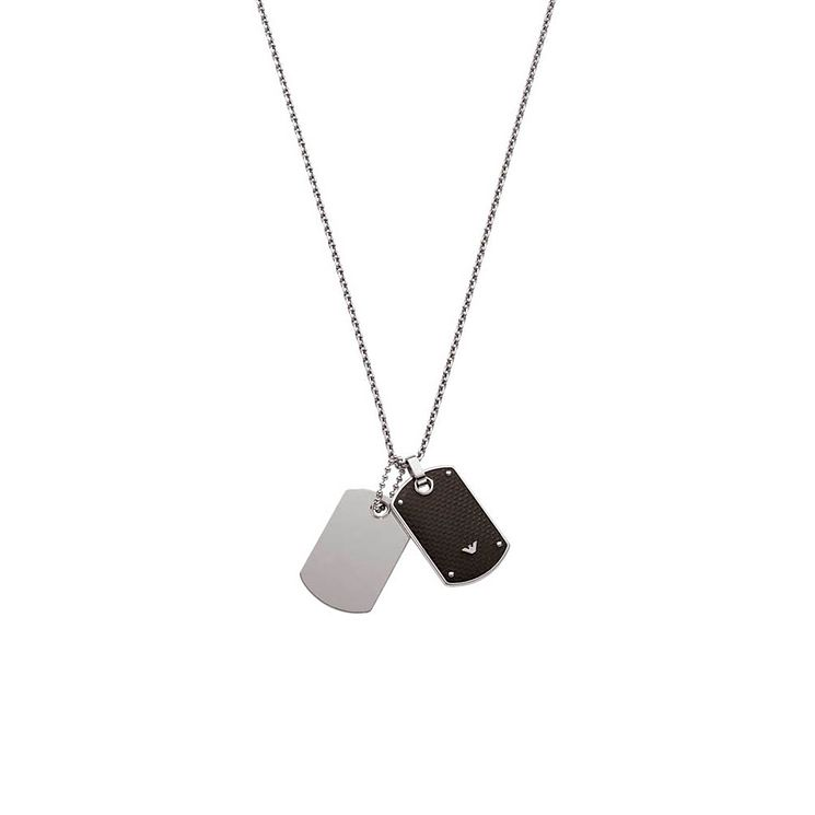 Emporio Armani Men's Stainless Steel Dog Tag Necklace - Product number 9447075