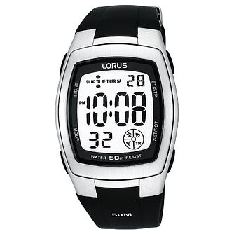 Lorus Men's Black Digital Watch - Product number 9449434