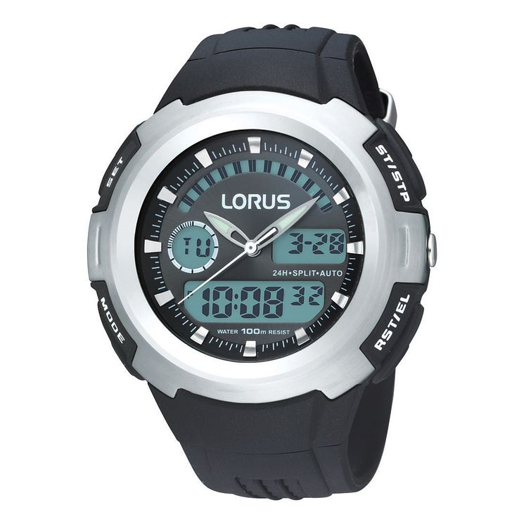 Lorus Men's Black Strap Watch - Product number 9449485