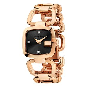 Gucci G-Gucci ladies' small rose gold PVD bracelet watch - Product number 9452176