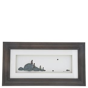 Sharon Nowland 'Four of Us' Wood Framed Picture - Product number 9453229