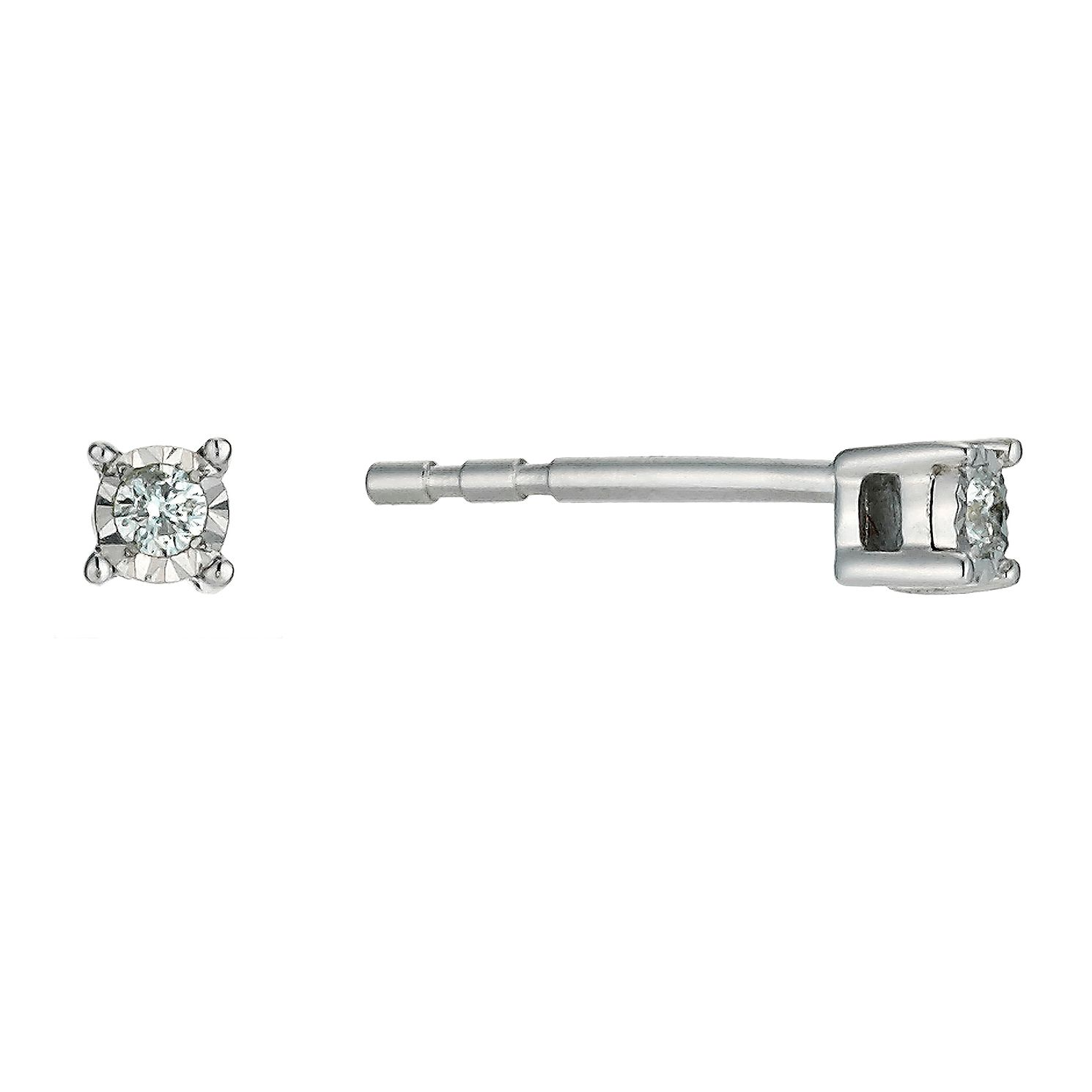 white stud earrings i in ctw diamond square carat h tw princess cut gold