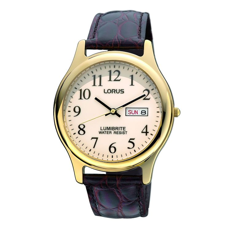 Lorus Lumibrite Nude Dial & Mock Croc Strap Watch - Product number 9454470