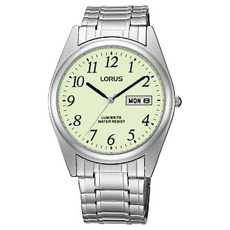 Lorus Lumibrite Men's Expander Bracelet Watch - Product number 9454500