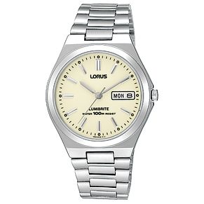 Lorus Lumibrite Men's Stainless Steel Bracelet Watch - Product number 9454519