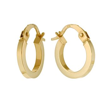 9ct gold plain round creole earrings 8mm - Product number 9455817
