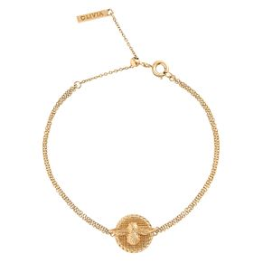 Olivia Burton 3D Bee Ladies Yellow Gold Plated Bracelet - Product number 9457313