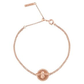 Olivia Burton 3D Ladies' Bee Rose Gold Plated Chain Bracelet - Product number 9457321