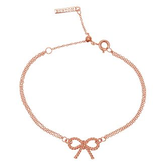 Olivia Burton Vintage Bow Ladies' Rose Gold Plated Bracelet - Product number 9457372
