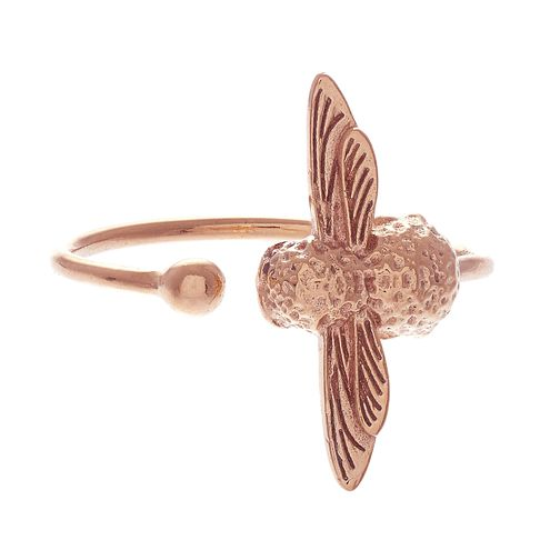 Olivia Burton 3D Bee Ladies' Rose Gold Plated Ring - Product number 9457429