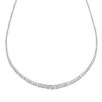 Sterling Silver 18 Inch Cubic Zirconia Tennis Necklace - Product number 9457690
