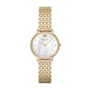 Emporio Armani Ladies' Yellow Gold Tone Bracelet Watch - Product number 9462783