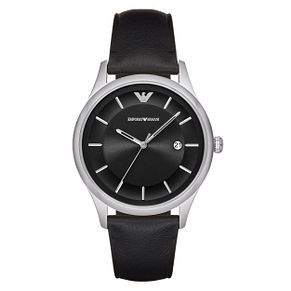 Emporio Armani Men's Stainless Steel Black Strap Watch - Product number 9462813