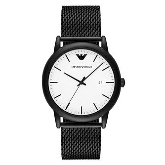 Emporio Armani Men's Stainless Steel Black Bracelet Watch - Product number 9462821