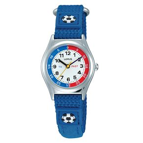 Lorus Children's Blue Canvas Strap Watch - Product number 9474560