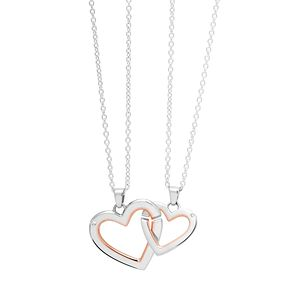 Clogau Silver & Rose Gold Mother & Daughter Heart Pendant - Product number 9505970