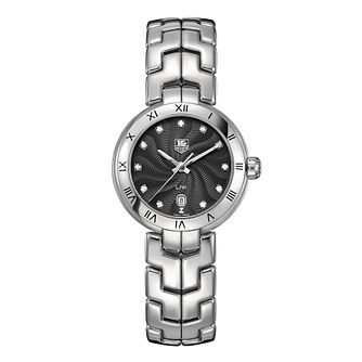 TAG Heuer Link ladies' diamond set black dial bracelet watch - Product number 9519815