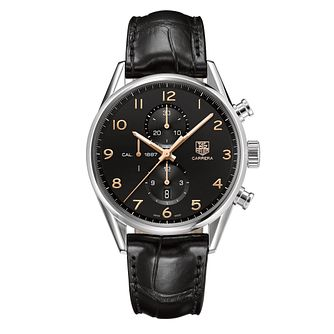 TAG Heuer Carrera men's black strap watch - Product number 9520066