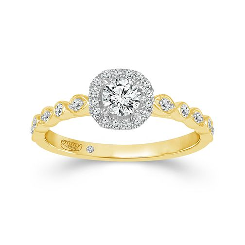 Emmy London 18ct Yellow Gold Halo 0.40ct  Diamond Ring - Product number 9529527