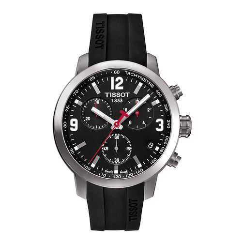 Tissot PRC200 men's stainless steel black rubber strap watch - Product number 9534881