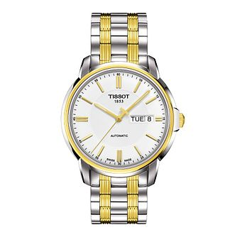 Tissot Stainless Steel & Gold Plated Bracelet Watch - Product number 9534962