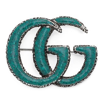 Gucci Double G Turquoise Brooch - Product number 9540563