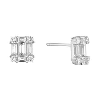 Silver Multi Stone Stud Earrings - Product number 9540717
