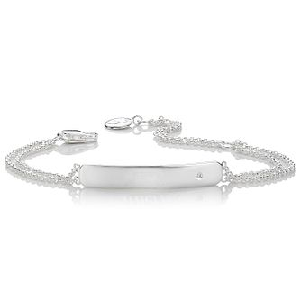Molly Brown Sterling Silver Diamond Identity Bracelet - Product number 9540776