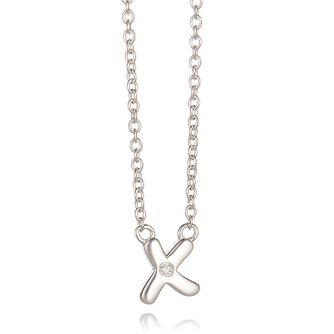 Molly Brown My 1st Sterling Silver Diamond Kiss Necklace - Product number 9540792