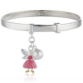 Molly Brown Silver Pink Enamel Bangle - Product number 9541039