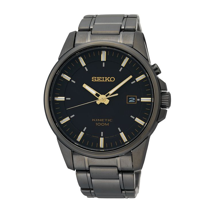 Seiko Conceptual Kinetic Men's Black Ion Plated Watch - Product number 9541527