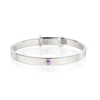 Molly Brown February Amethyst Christening Bangle - Product number 9542019