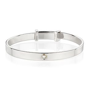 Molly Brown June Pearl Christening Bangle - Product number 9542051