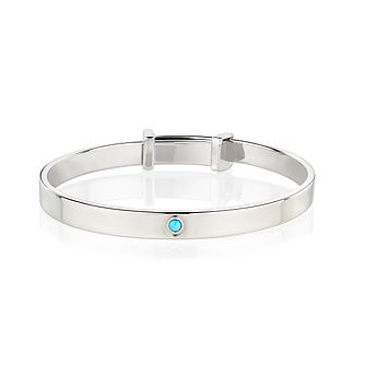 Molly Brown December Turquoise Christening Bangle - Product number 9542124