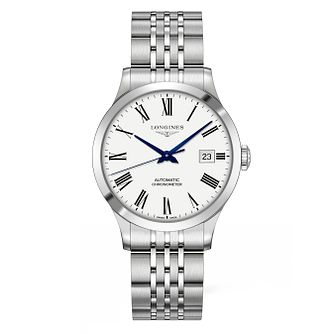 Longines Record Men's White Dial Bracelet Watch - Product number 9543627